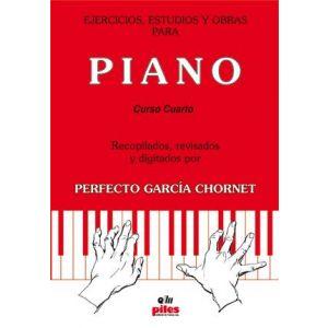 EJERCICIOS ESTUDIOS Y OBRAS PARA PIANO CUARTO CURSO