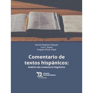 COMENTARIO DE TEXTOS HISPANICOS: LITERARIO