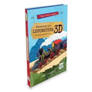 CONSTRUYE UNA LOCOMOTORA LIBRO + MAQUETA 3D