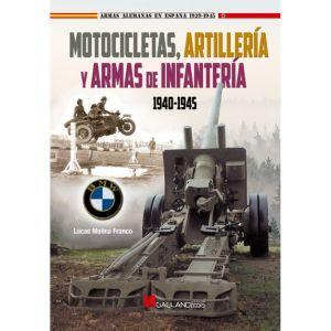 MOTOCICLETAS  ARTILLERIA Y ARMAS DE INFANTERIA  1940-1945