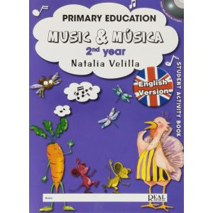 MUSIC & MUSICA   2 YEAR + DVD INGLES   PRIMARY EDUCATION