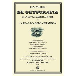 PRONTUARIO DE ORTOGRAFIA DE LA LENGUA CASTELLANA (1844).