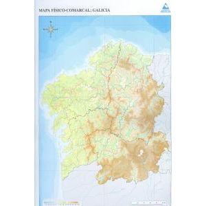 Paq/50 mapas galicia comarcal fisico mudos