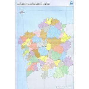 Paq/50 mapas galicia comarcal politico mudos