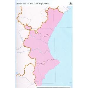 Paq/50 mapas c.valenciana politico mudos