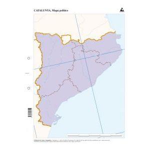 Paq/50 mapas catalunya politico mudos
