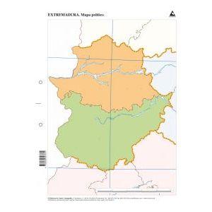 Paq/50 mapas extremadura politico mudos