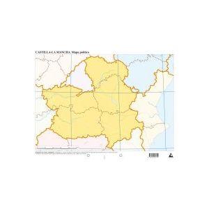 Paq/50 mapas castilla-mancha politico mudos