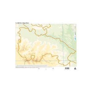 Paq/50 mapas la rioja fisico mudos