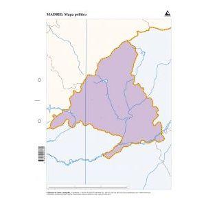 Paq/50 mapas c.madrid politico mudos