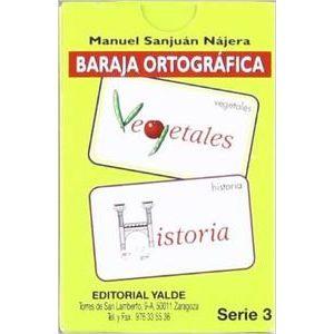 BARAJA ORTOGRAFICA 3. (5-12 AÑOS). 33 CARTAS.