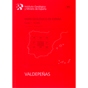 MAPA GEOLOGICO DE ESPAÑA. E 1:50.000. HOJA 812  VALDEPEÑAS