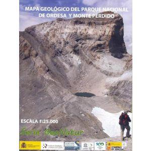 MAPA GEOLOGICO DEL PARQUE NACIONAL DE ORDESA Y MONTE PERDIDO
