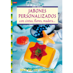 SERIE JABONES Nº 3. JABONES PERSONALIZADOS CON CINTAS  FLORES  MADERA...